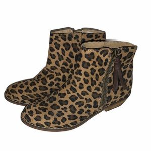 Tucker + Tate sz 3 leopard girls booties